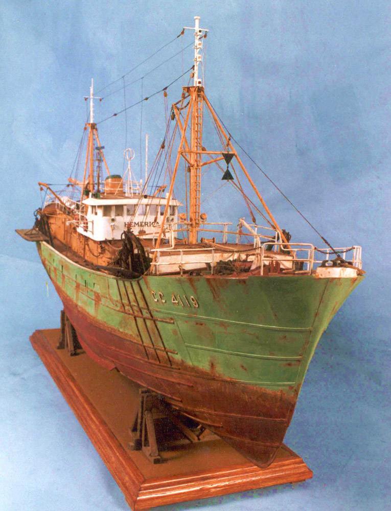 Ship model of a trawler go nautical for How to ship fish