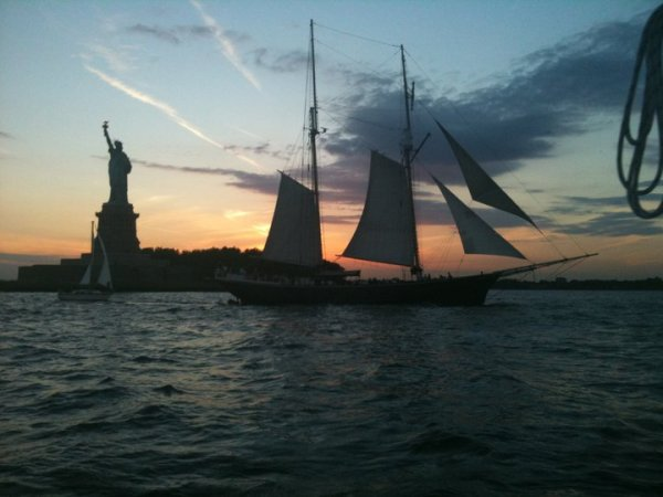 Sailing in New York Harbor