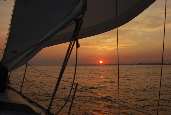 Sunset Sailing, Atlantic Ocean