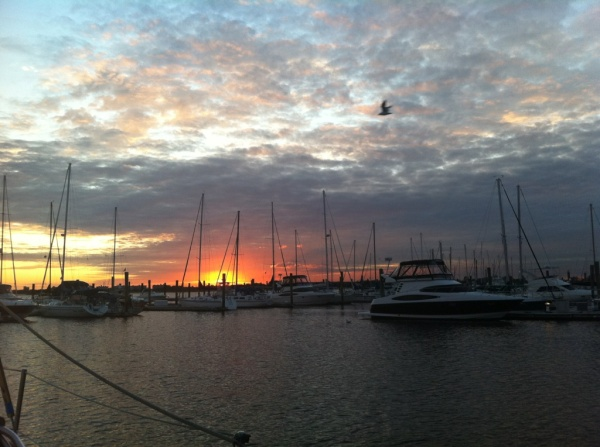 Sunset at the Marina