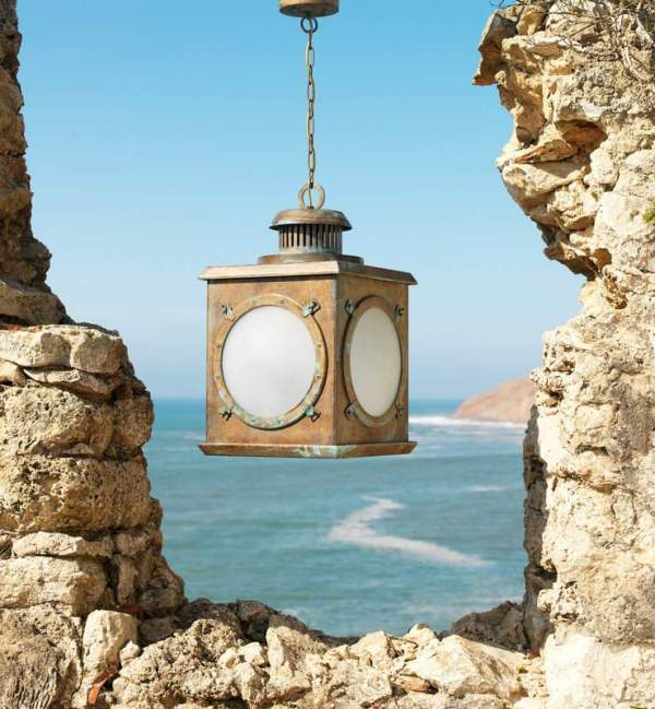 Lantern with a ship's portholes.