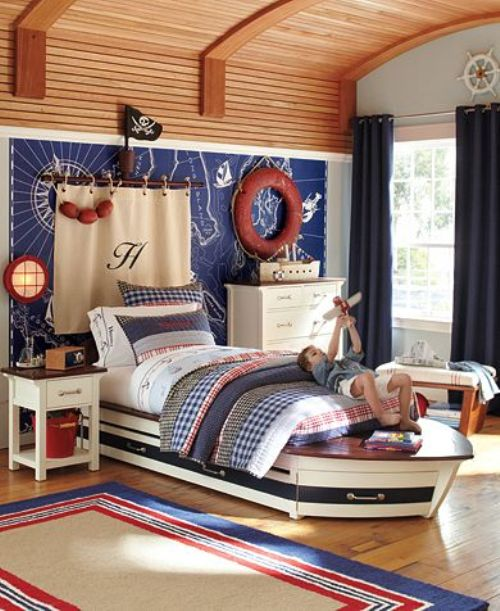Nautical Themed Bedding And Curtains: NAUTICAL THEME HOME DECORATING IDEAS