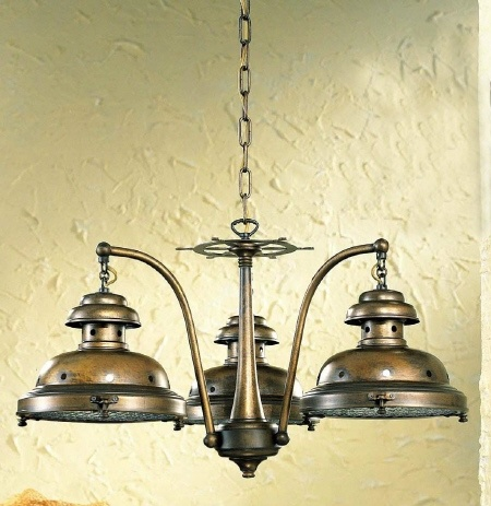 Three Light Nautical Chandelier