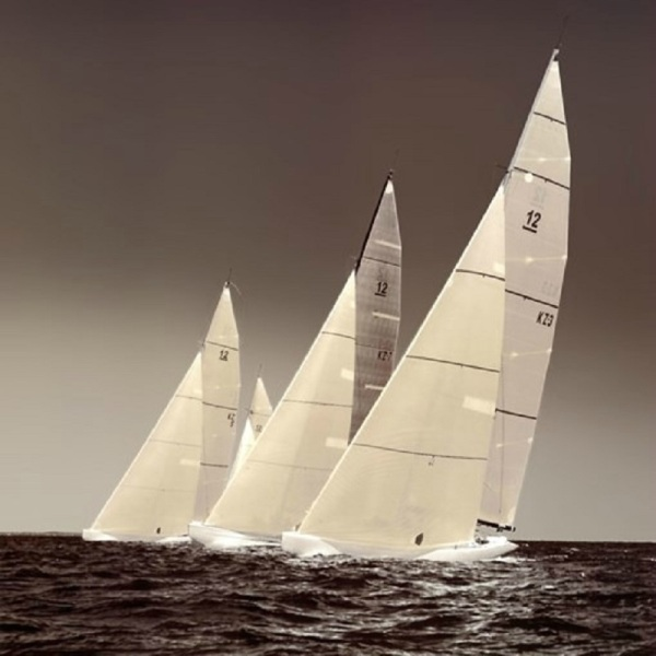 classic yachts ocean race art poster