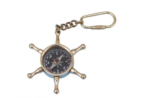 wheel-compass-key-chain
